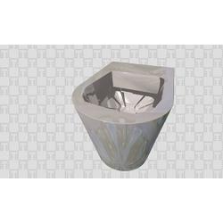 Vaso Round terra Rimless Hide Alice Ceramica Hide