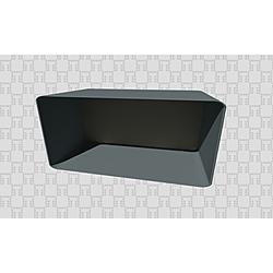 Edge 53 Cm Rectangular Side Wall Unit Anthracite  Mink Kale Banyo Edge