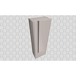 Vista 58 Cm Cleaning Tall Cabinet  Matte White Kale Banyo Vista Bathroom Furniture
