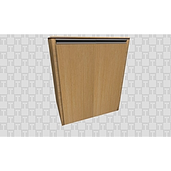 Vista 76 Cm Washing Machine Cabinet  Dark Oak(With Door) Kale Banyo Vista Bathroom Furniture