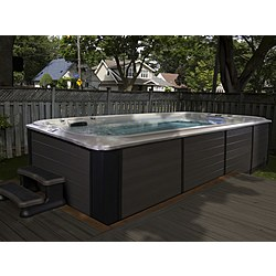 JACUZZI SWIM SPA POWER-ACTIVE 19' PARTIAL-IN-GRADE Jacuzzi Swim Spa Jacuzzi