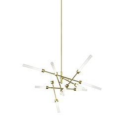linger 12 light abstract chandelier Rolando Luci Chandelier