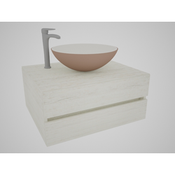 BOREAL CAPUC.+CAPUC. VIDRIO+LVM PRAGA ALTO Pisende Mobiliario baño