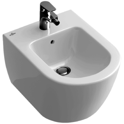 Wall-mounted bidet (over-the-rim style) - sleek Villeroy & Boch Subway