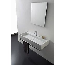 100R B washbasin 100x46 - Kolekcja  Teorema 2.0  Scarabeo   Tilelook