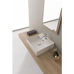 46R washbasin - 46x46 - Kolekcja  Teorema 2.0  Scarabeo   Tilelook
