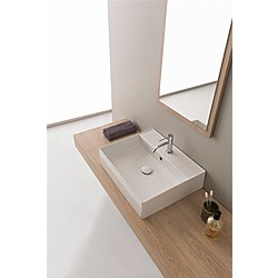 60R washbasin - 60x46 - Kolekcja  Teorema 2.0  Scarabeo   Tilelook