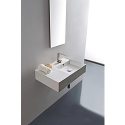 60 shelf SX washbasin - 60x44 - Kolekcja  Teorema 2.0  Scarabeo   Tilelook