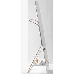 Mirror with metallic tubular frame-towel rack Inbani Bowl