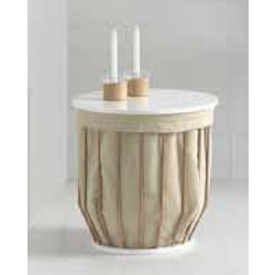Basket-stool with metal rods Inbani Bowl