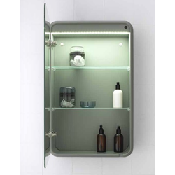 Cabinet mirror with 2 glass shelves Inbani Fluent