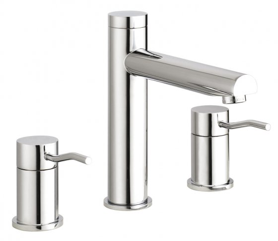 Three holes washbasin with tall spout collezione kusasi for Seresi arredo bagno camerano an