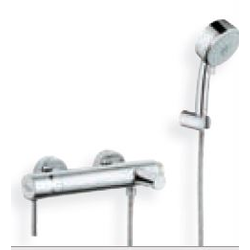 Bath/shower mixer with shower wall holder set Grohe Essence