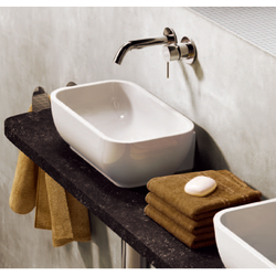 Bench - wall hung small basin 30x22 cm with central drain Flaminia Pass