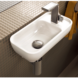 Bench - wall hung small basin 40x22 cm with right tap ledge Flaminia Pass