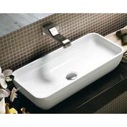 Bench basin 60 cm with central drain Flaminia Pass