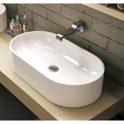 Oval bench basin 65 cm with central drain Flaminia Pass