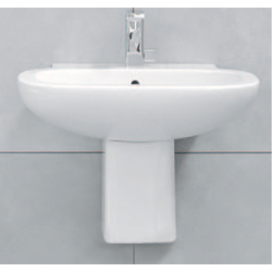 Wall mounted ceramic pedestal suitable for 64/74 cm basins Flaminia Sprint