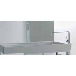 Countertop or wall-hung washbasin OZ left cm 95 without tap hole Ceramica GSG Oz