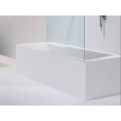 Bathtub OZ in pietraluce with overflow Ceramica GSG Oz