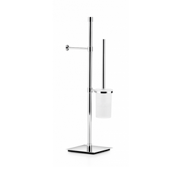 Toilet paper and brush holder stand - chromed brass Lineabeta Ranpin