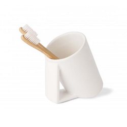 Toothbrush holder mug - ceramic Lineabeta Saon