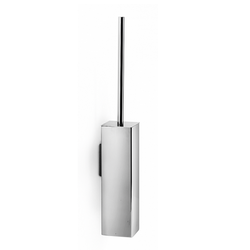 Wall square toilet brush holder - polished stainless steel Lineabeta Skoati