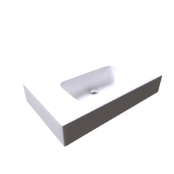 Top Stonelight ST15CM/L85 incluso 2 staffe Disegno Bagno Absolute