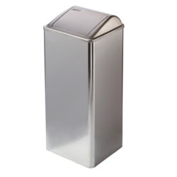 Stainless steel waste receptacle with self-closing lid Mediclinics Waste Receptacle