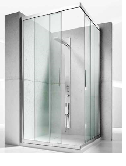 corner shower - Collection Serie 6000 by Vismaravetro | Tilelook