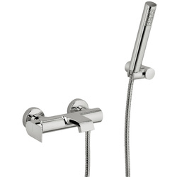Built-in single-lever bath  mixer with duplex shower. F.lli Frattini Tolomeo