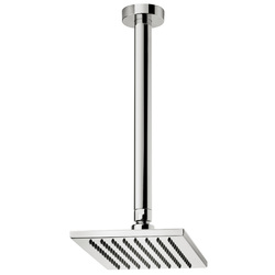 Rectangular anticalcareous shower head with vertical shower arm. F.lli Frattini Tolomeo