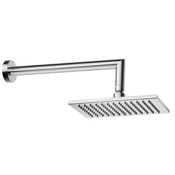 Rectangular anticalcareous shower head with shower arm. F.lli Frattini Tolomeo