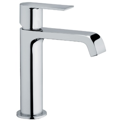 Single-lever washbasin mixer without pop-up waste F.lli Frattini Tolomeo