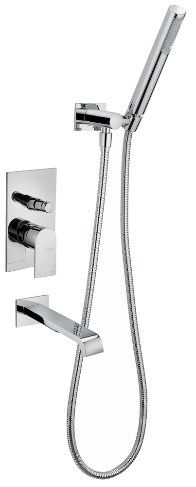 Bath Mixer With Wall Mounted Spout