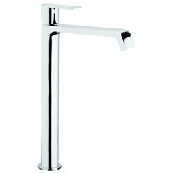 High version single-lever washbasin mixer without pop-up waste. F.lli Frattini Tolomeo