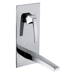 Vertical built-in washbasin mixer without pop-up waste. F.lli Frattini Luce