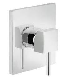 Shower Flush fit single control Chrome Finish Nobili Cube