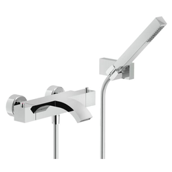 Tub External thermostatic mixer with duplex Chrome Finish Nobili Ray