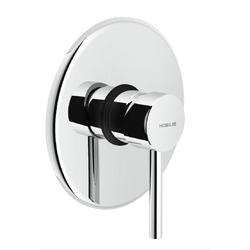 Shower Flush fit single control Chrome Finish Nobili Plus