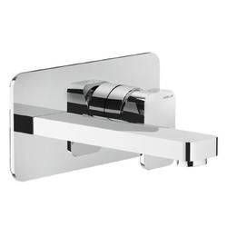 Washbasin Wall mounted single control Chrome Finish Nobili Loop