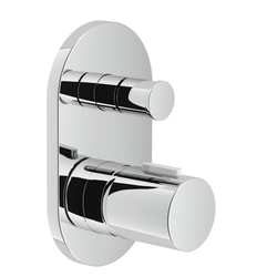 Shower Flush fit single control Chrome Finish Nobili Likid
