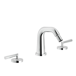Bidet 3-hole set Chrome Finish Swivel jet Nobili Likid