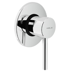 Shower Flush fit single control Chrome Finish 1-way outlet Built-in part included Nobili Live