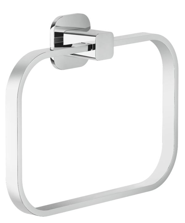 Accessories Towel holder Chrome Finish Wall-mounted - Collection Loop de Nobili | Tilelook