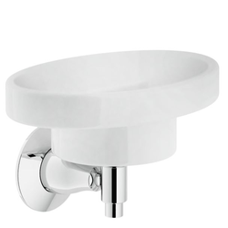 Accessories Soap holder Chrome Finish Wall-mounted Nobili Carlos Primer