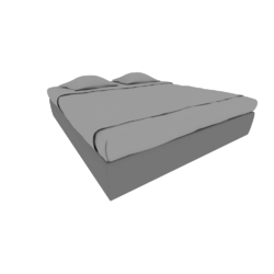 00tal upholstered bed frame 180 x 200 without upholstered base Ligne Roset Nador