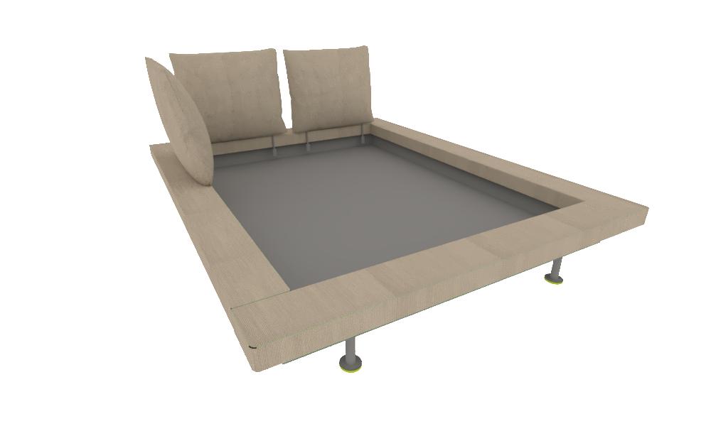 00yk0 Bed Frame Bed 160 X 200 - Maly-platform-bed-by-ligne-roset