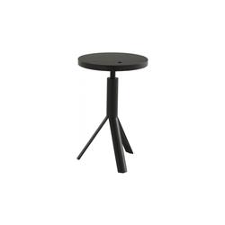 00wpe telescopic bar stool black stained oak black lacquered base Ligne Roset Ike