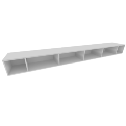 00rue horizontal compartmented shelf argile lacquer Ligne Roset Book&Look
